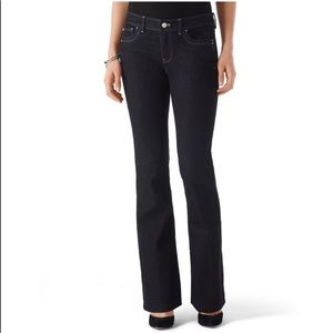 WHBM Blanc Noir Black Flare Jeans